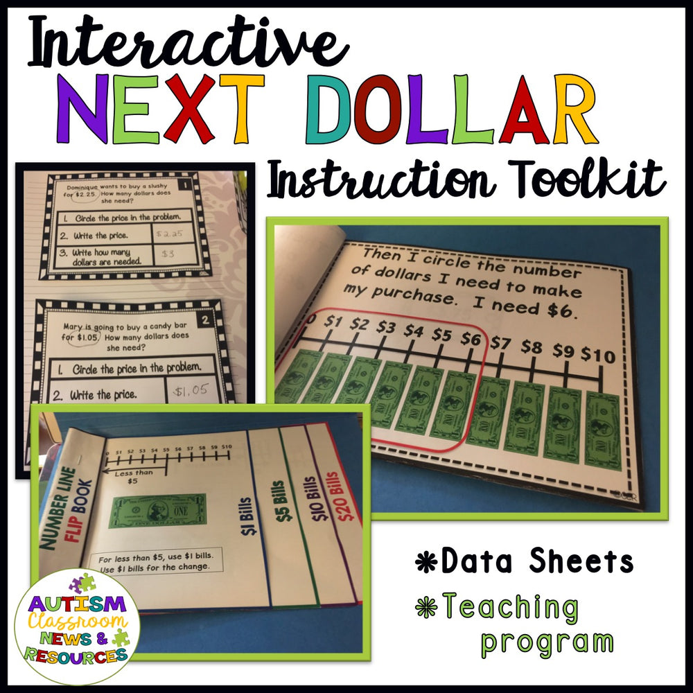 Interactive Next Dollar Up Instructional Toolkit for Special Education and Life Skills - Autism Classroom Resources