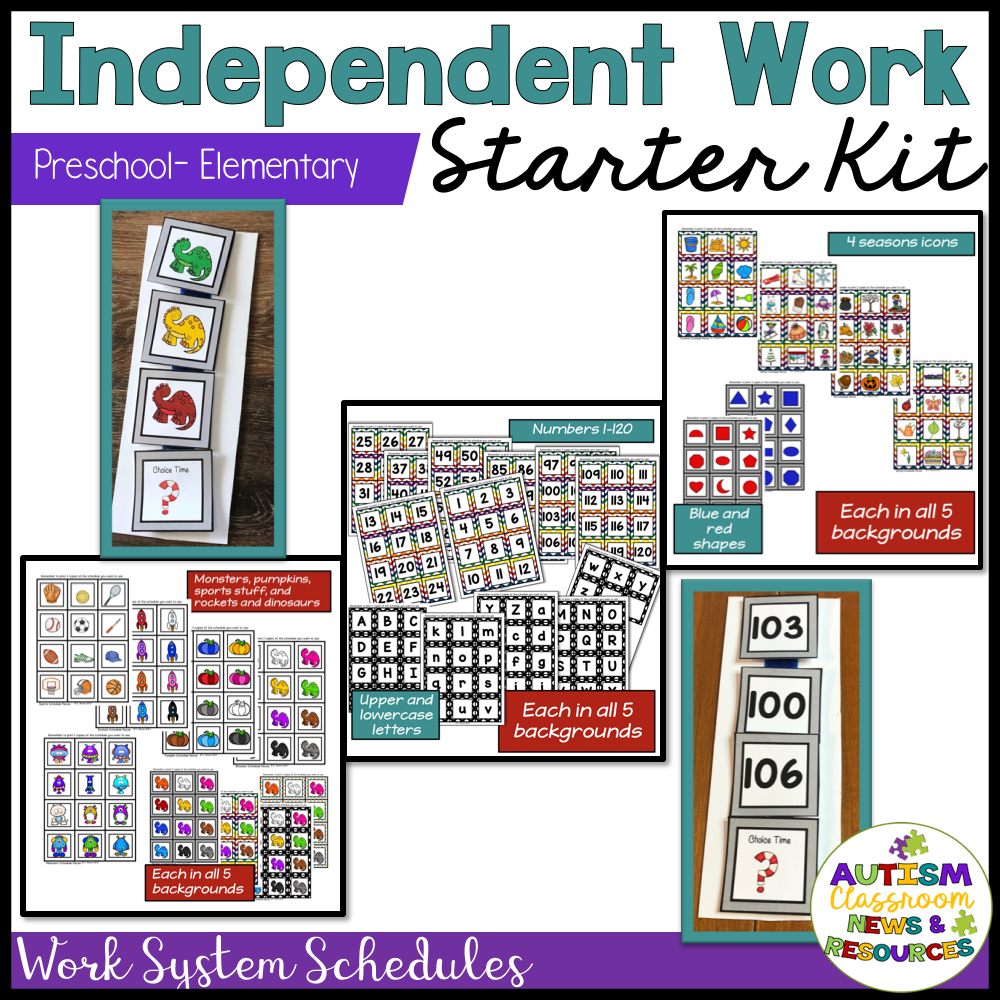 Independent Work System Starter Kit for Elementary & PreK Special Education