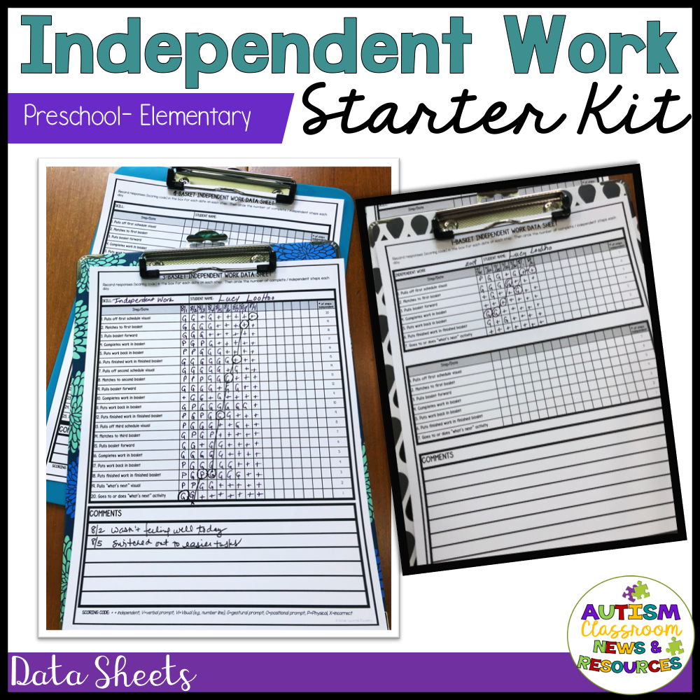 Independent Work System Starter Kit for Elementary & PreK Special Education - Autism Classroom Resources