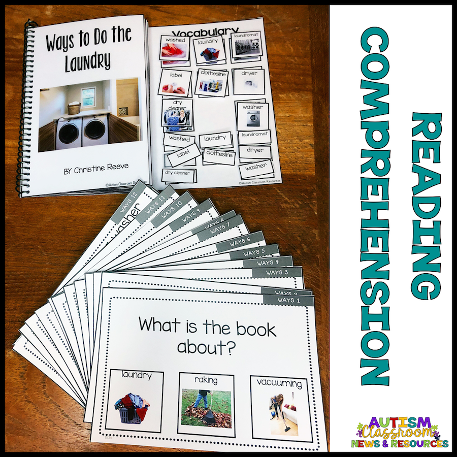 Life Skills Laundry Interactive Books With Lesson Plans and Comprehension Tools - Autism Classroom Resources