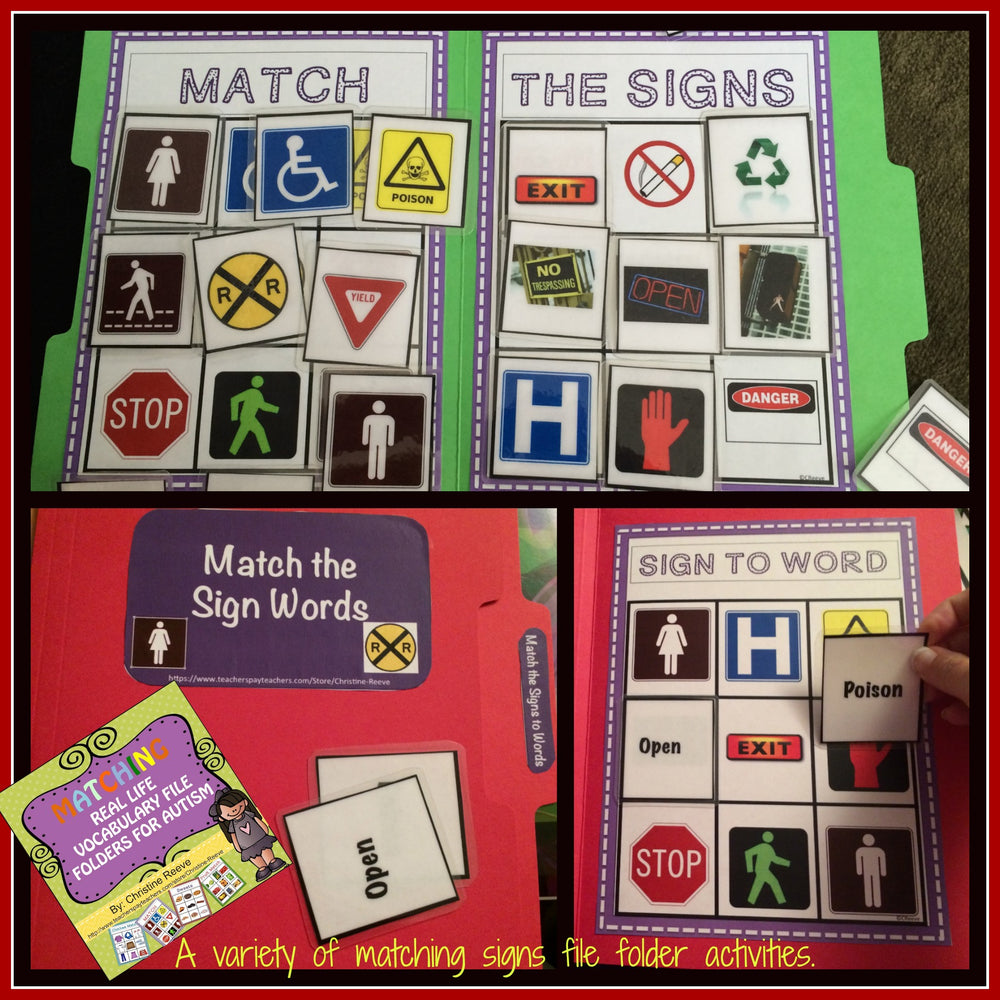 REAL LIFE PHOTOGRAPHIC MATCHING FILE FOLDERS - Autism Classroom Resources