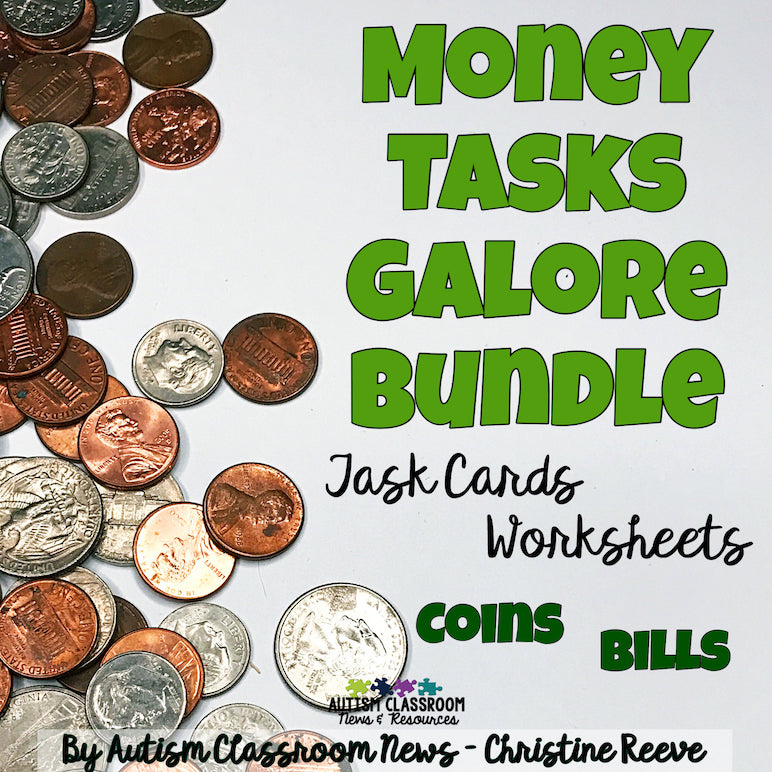 Money Tasks Galore Bundle - Autism Classroom Resources