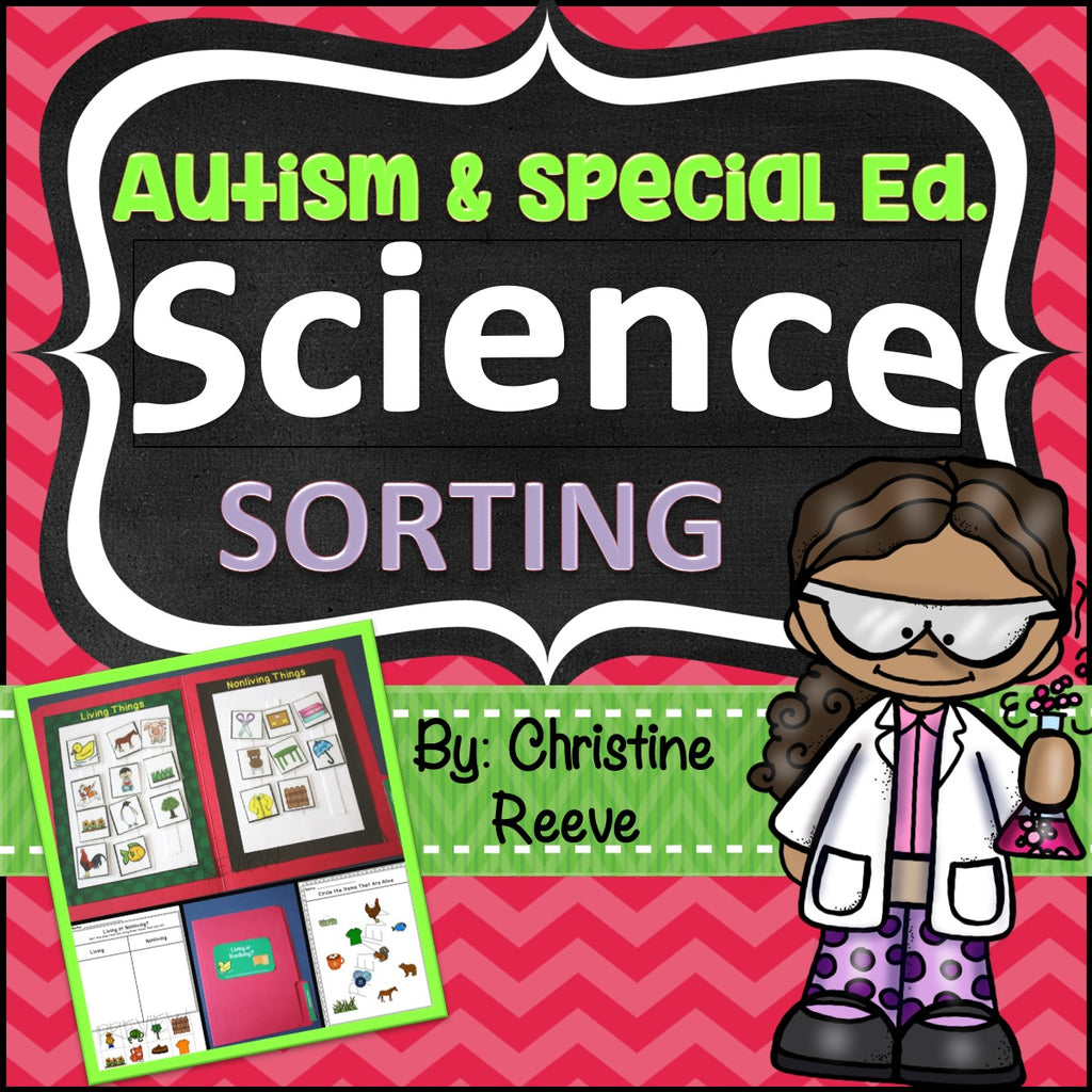 Science Sorting File Folders and Worksheets for Autism and Special Education - Autism Classroom Resources