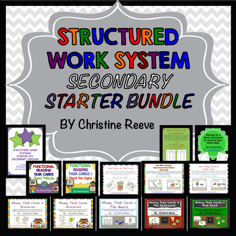 Secondary Independent Work Activities Starter Bundle - Autism Classroom Resources