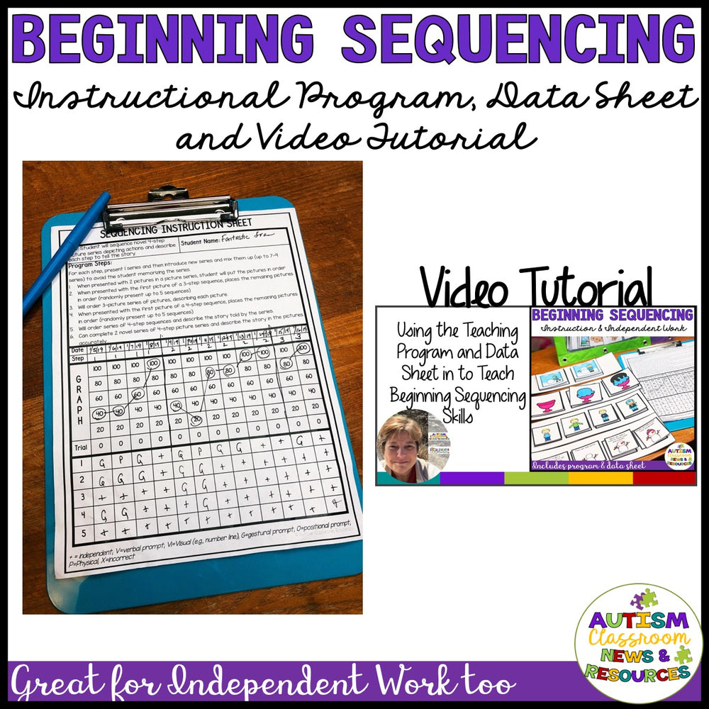 Basic Picture Sequencing: 2-Picture to 4-Picture Sequences With Data & Tutorial