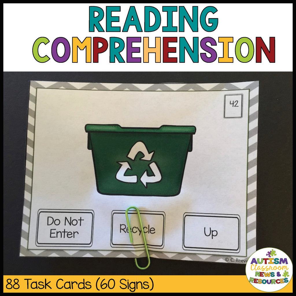 Common Signs Functional Reading Task Cards for Autism and Special Education Programs - Autism Classroom Resources