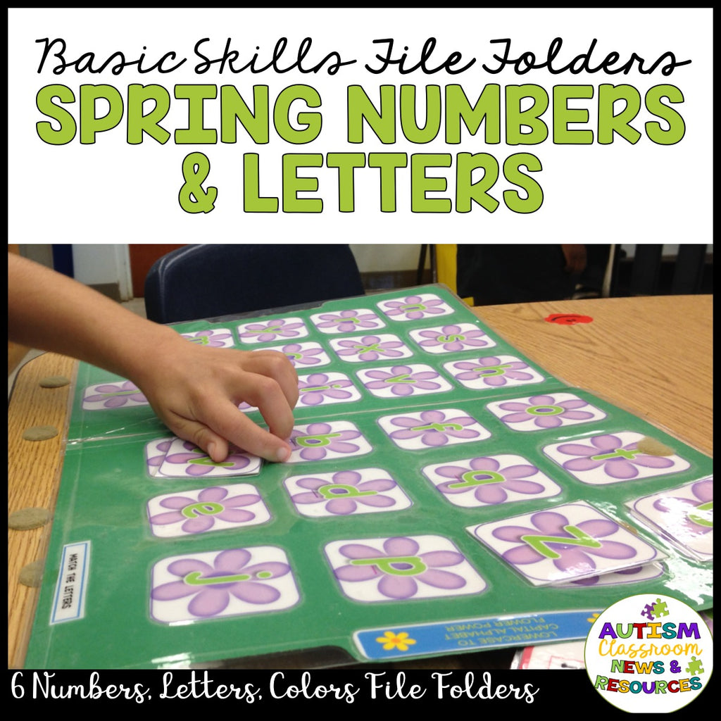 Spring Basic Skills File Folder Activities: Flower Letters, Numbers and Colors