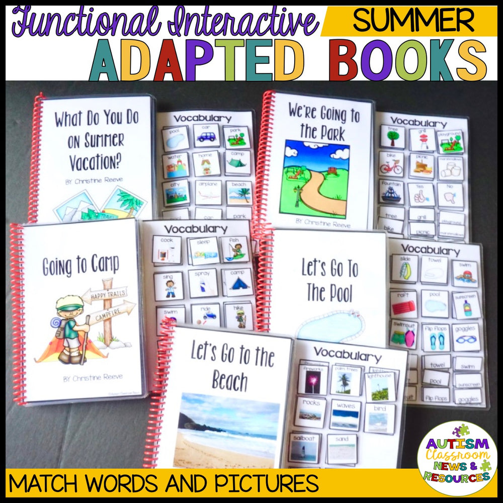 Summer Interactive Adapted Books for Special Education & Autism Programs - Autism Classroom Resources