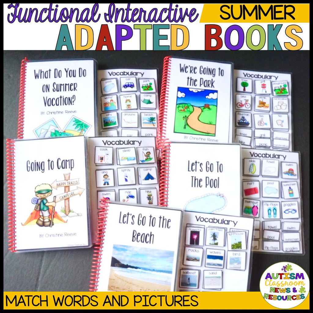 Summer Interactive Adapted Books for Special Education & Autism Programs
