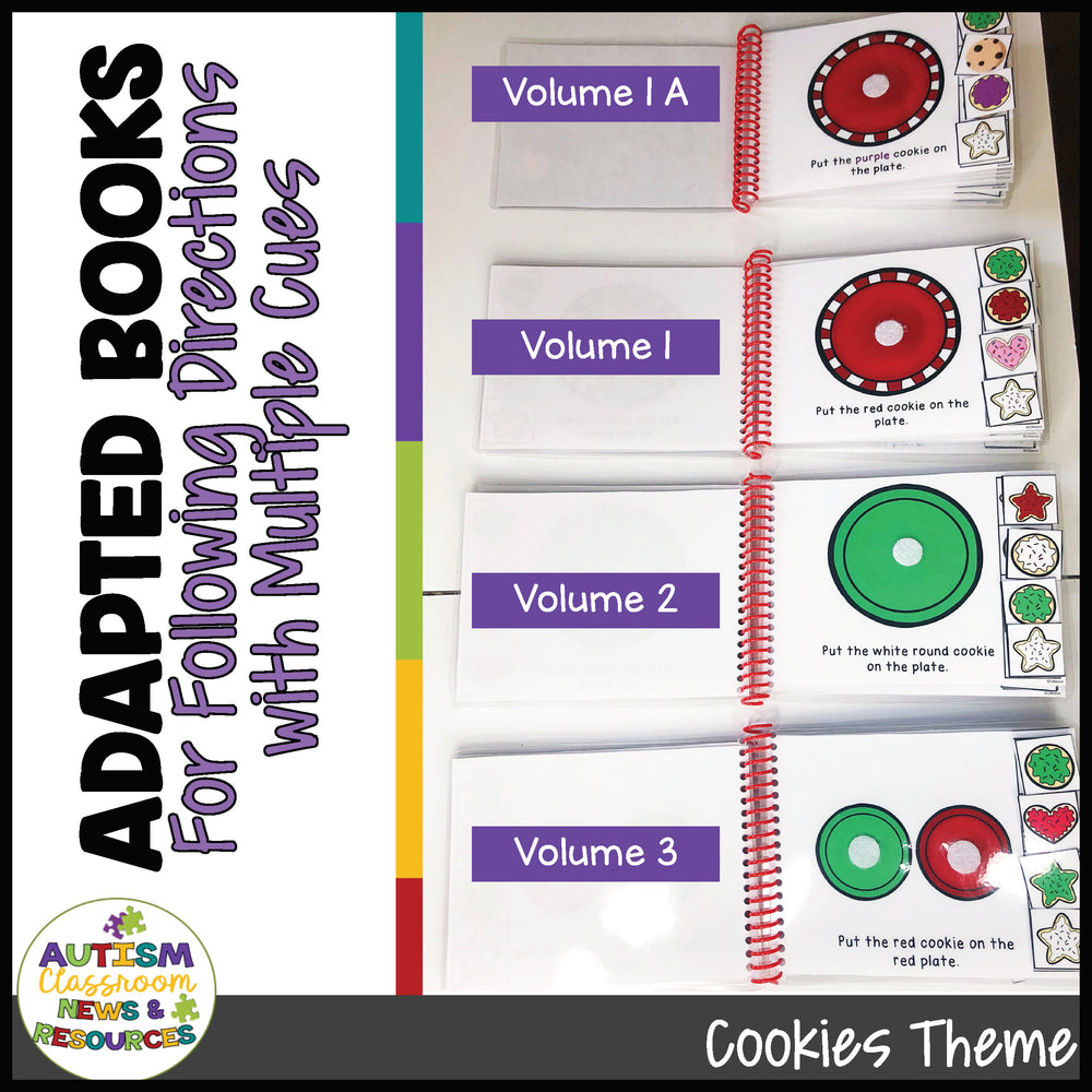 Adapted Books for Following Directions with Cookies and Multiple Cues - Autism Classroom Resources