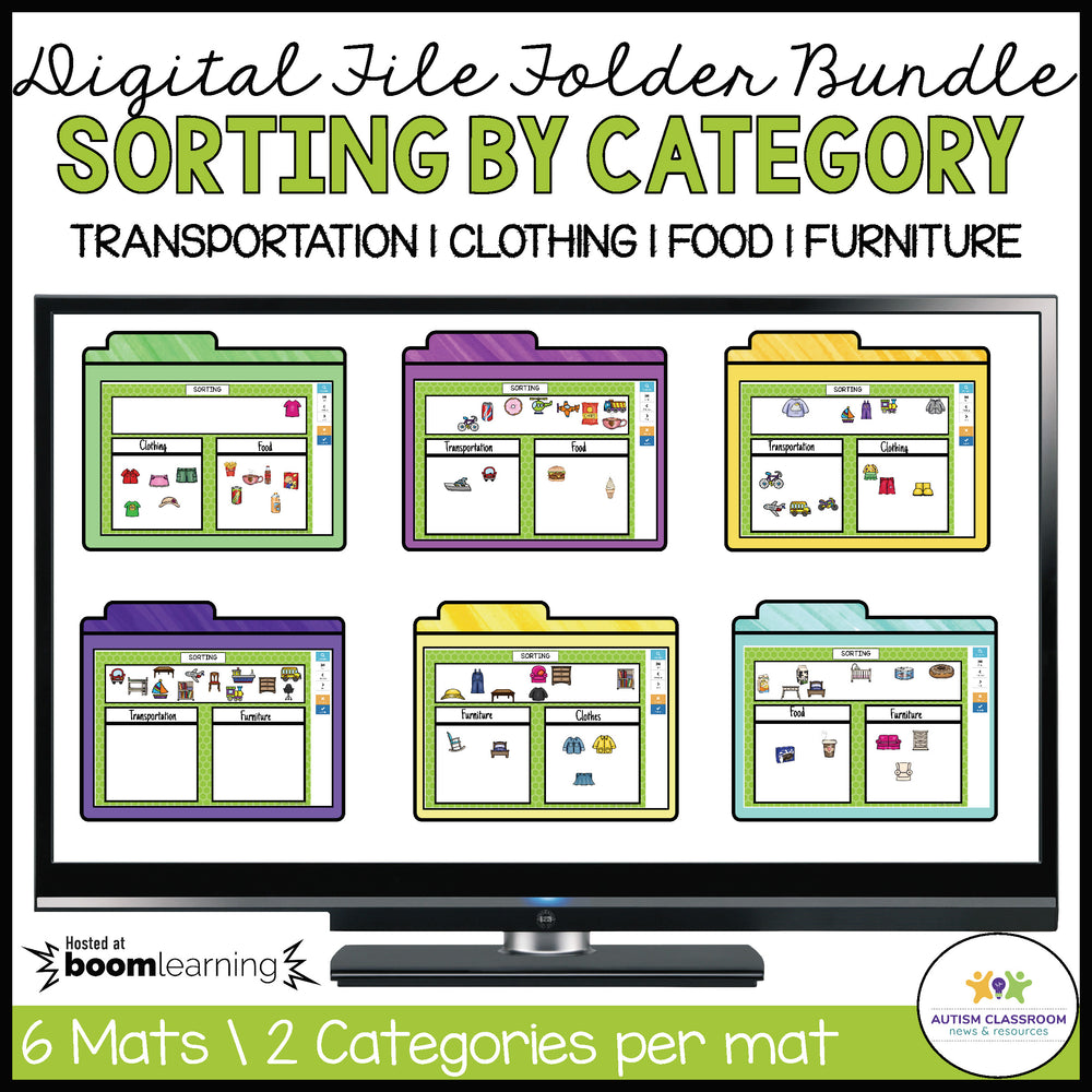 Digital Category Sorting Mats: BOOM Card Bundle - Autism Classroom Resources