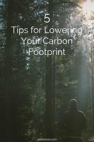 5 Tips for Lowering your Carbon Footprint from pelacase.com