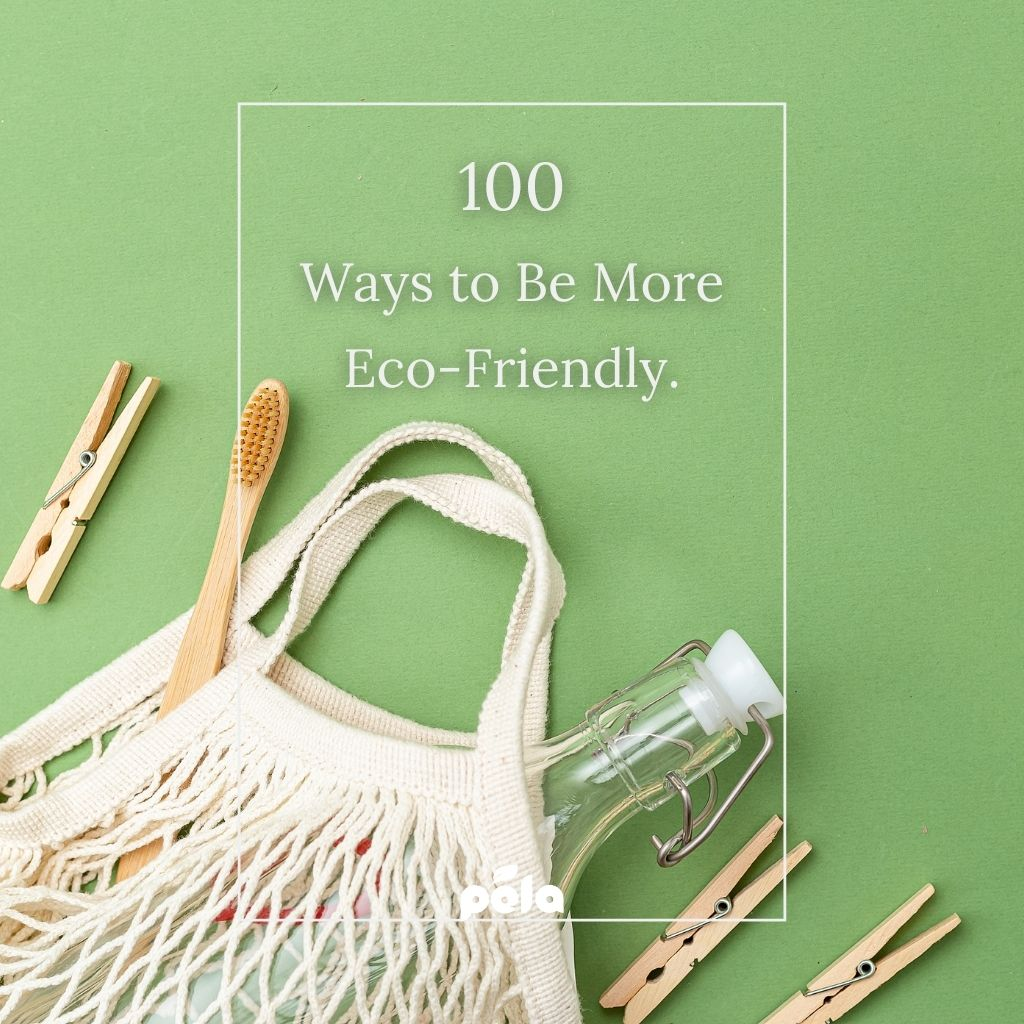 100 ways to be more eco-friendly