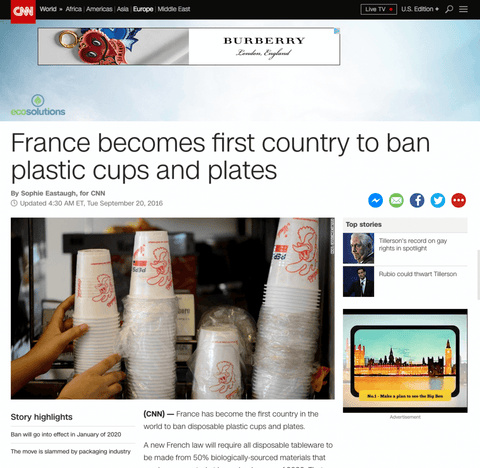 France Bans Plastic Cutlery