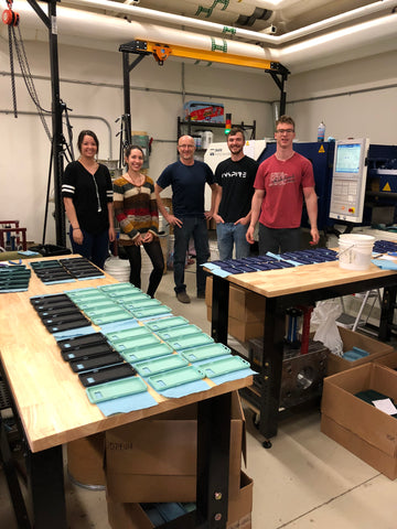 The group who runs the injection molding machine for Pela from pelacase.com Who made your phone case? Fashion revolution week.