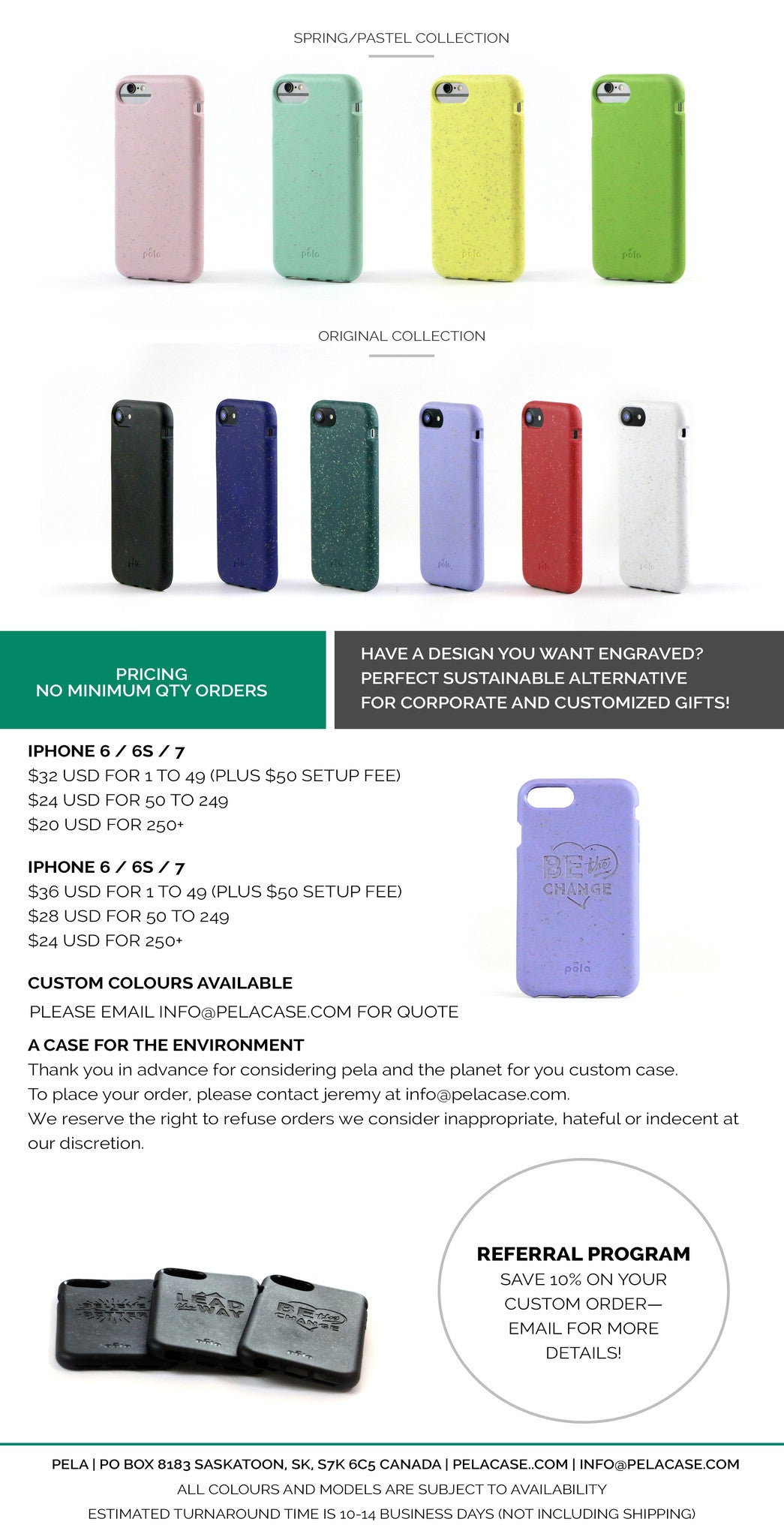 Custom Eco-Friendly Corporate Gifts and Swag - Engraved Pela iPhone Case