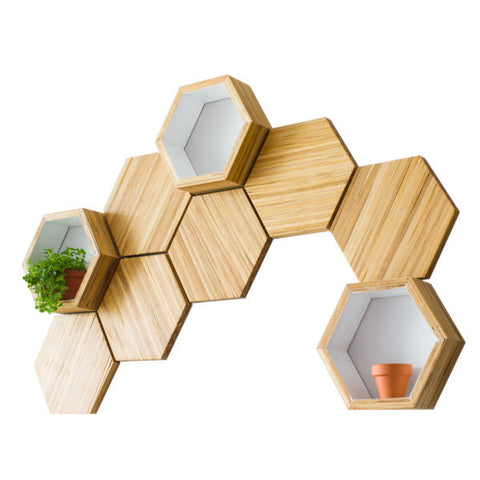 ChopValue - Recycled Bamboo Chopstic Shelving and Art