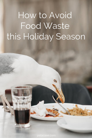 How to avoid food waste this holiday season from www.pelacase.com #foodwaste #Thanksgiving #Christmas