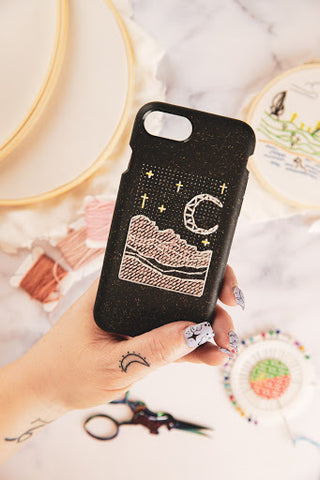 phone case with embroidery