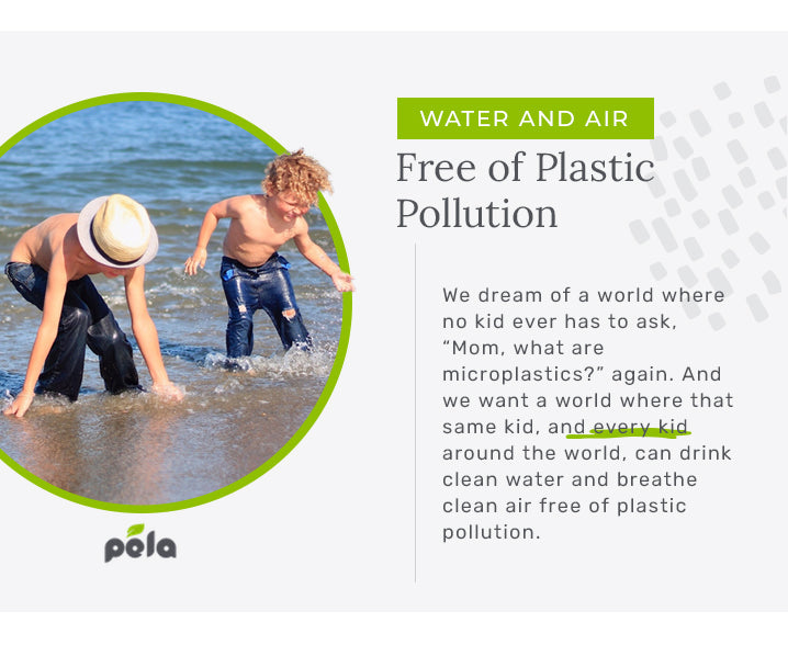 water air free of plastic pollution