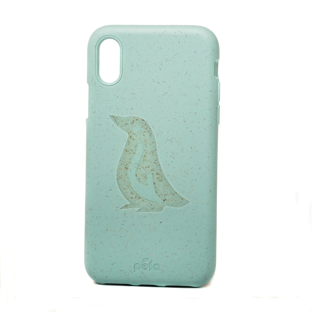 Penguin Ocean Turquoise Eco-Friendly iPhone XS Case