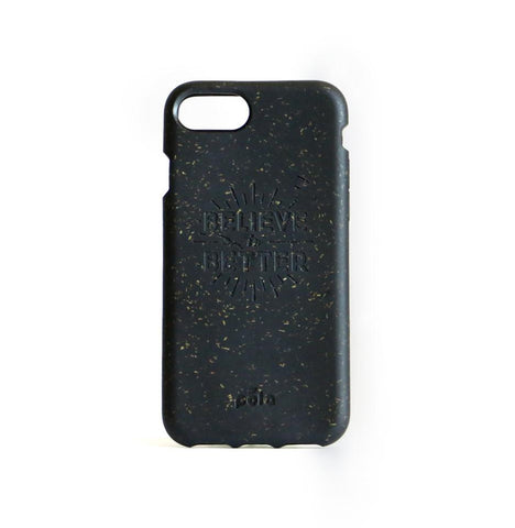 """Believe in Better"" Black Eco Friendly iPhone Case 7 / 8"