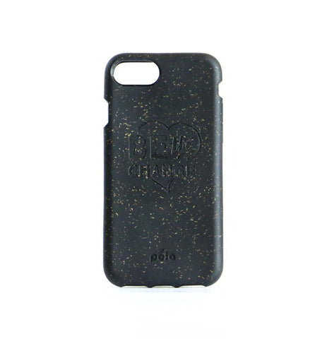 """Be The Change"" Black Eco Friendly iPhone Plus Case"