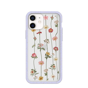 Clear Floral Vines iPhone 12/ iPhone 12 Pro Case With Lavender Ridge