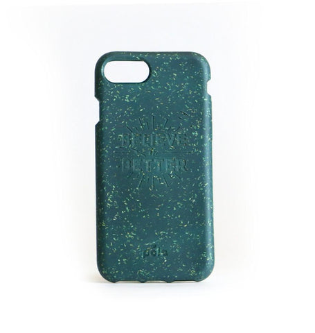 """Believe in Better"" Green Eco Friendly iPhone Plus Case"