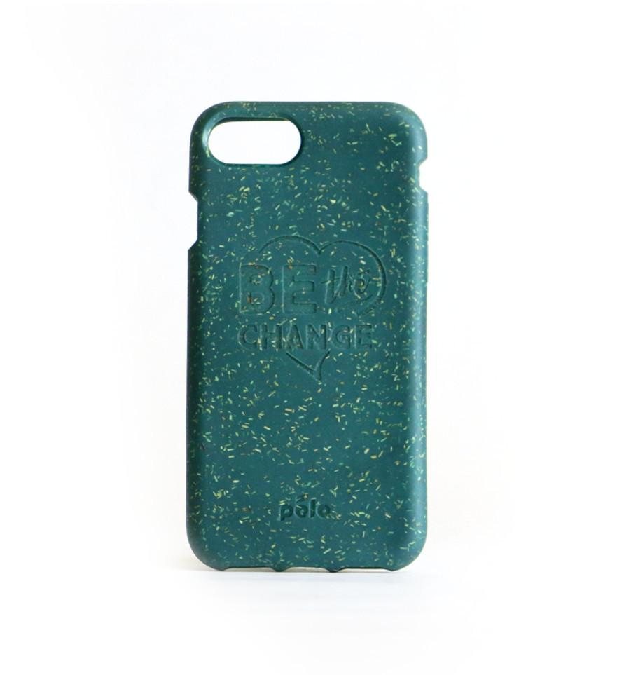 """Be The Change"" Green Eco Friendly iPhone Plus Case"