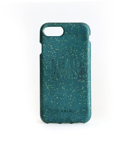 """Lead The Way"" Green Eco Friendly iPhone Plus Case"