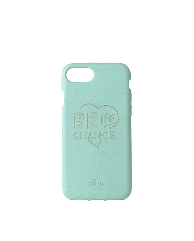 """Be The Change"" Ocean Turquoise Eco Friendly iPhone SE / 5 / 5S Case"