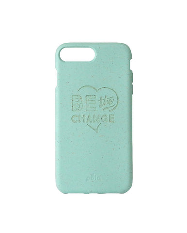 """Be The Change"" Ocean Turquoise Eco Friendly iPhone Plus Case"