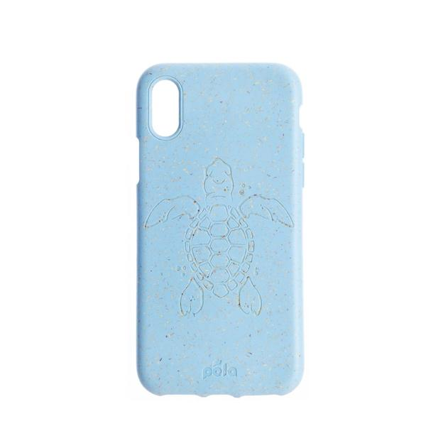 Sky Blue (Turtle Edition) Eco-Friendly iPhone XS Case