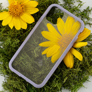 Clear Eco-Friendly iPhone XS Case with Lavender Ridge