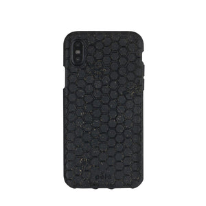 Black (Bee Edition) Eco-Friendly iPhone XS Case