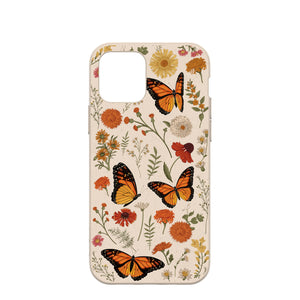 Seashell Monarch Butterfly iPhone 12/ iPhone 12 Pro Case
