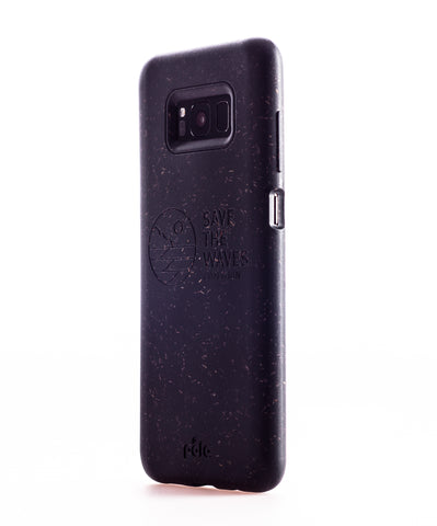 Save The Waves - Black Samsung S8+(Plus) Eco-Friendly Phone Case