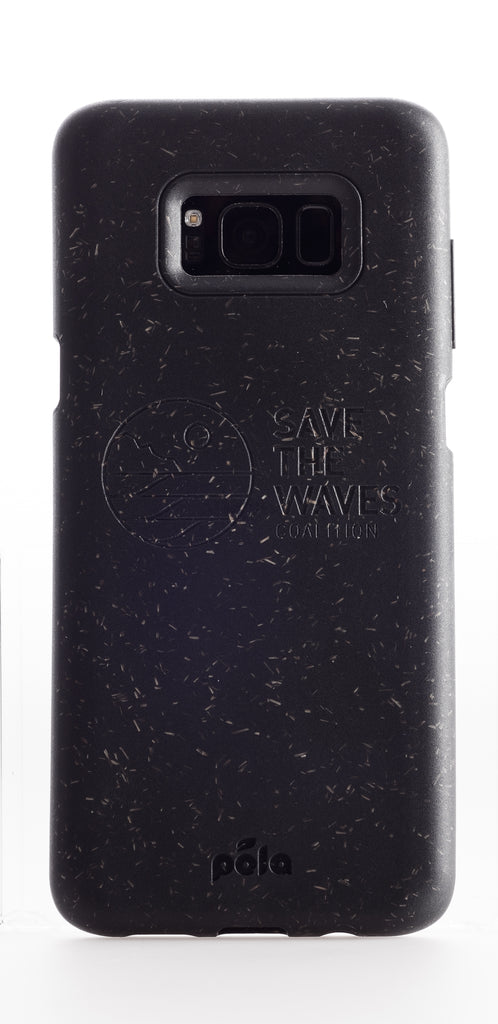Save The Waves - Black Samsung S8 Eco-Friendly Phone Case