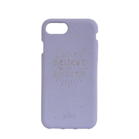 """Believe in Better"" Lavender Eco Friendly iPhone Case 7 / 8"