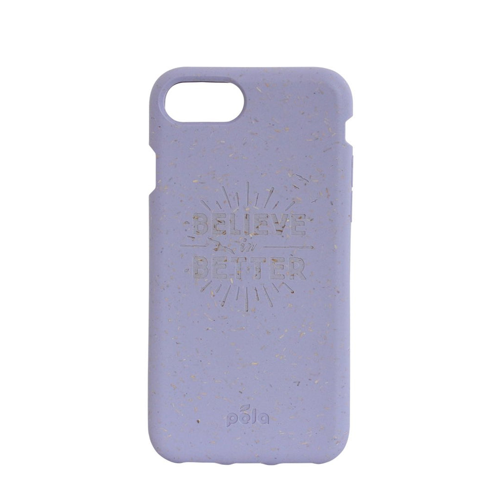 """Believe in Better"" Lavender Eco Friendly iPhone Plus Case"