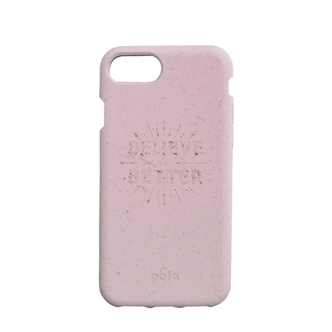 """Believe in Better"" Rose Quartz Eco Friendly iPhone Case 7 / 8"