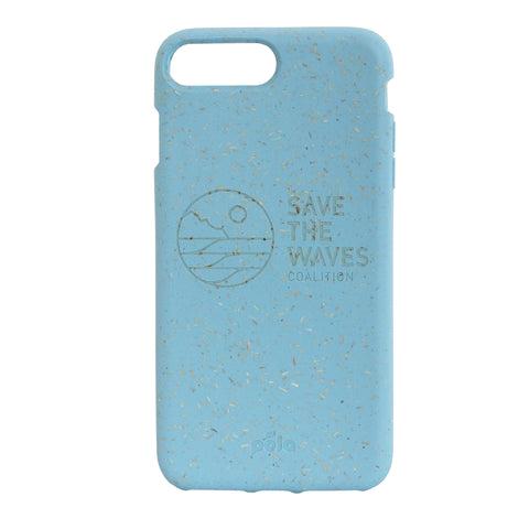 Save The Waves Eco-Friendly iPhone PLUS Case - Sky Blue