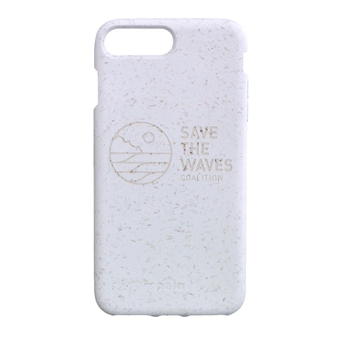Save The Waves Eco-Friendly iPhone PLUS Case - White
