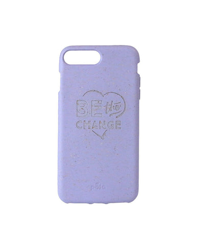 """Be The Change"" Lavender Eco Friendly iPhone Plus Case"