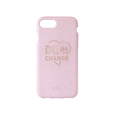 """Be The Change"" Rose Quartz Eco Friendly iPhone Case 7 / 8"