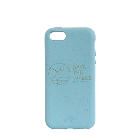 Save The Waves Eco-Friendly iPhone SE / 5 / 5S - Sky Blue