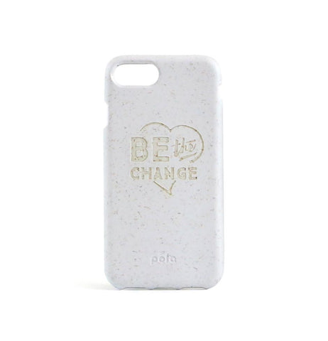 """Be The Change"" White Eco Friendly iPhone Plus Case"