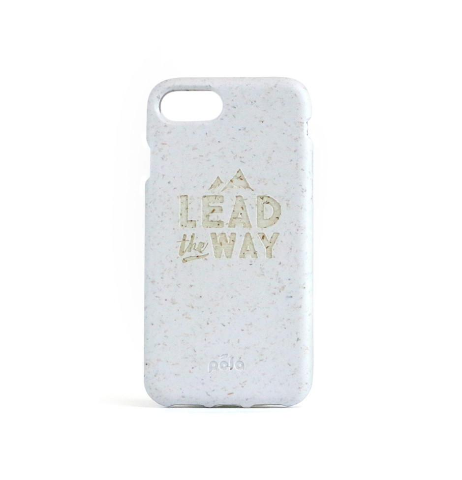 """Lead The Way"" White Eco Friendly iPhone Plus Case"