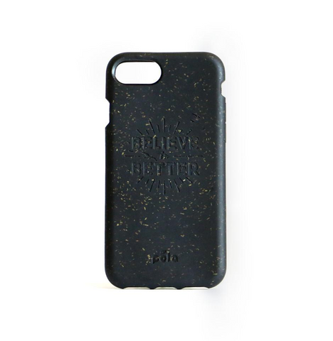 """Believe in Better"" Black Eco Friendly iPhone Plus Case"